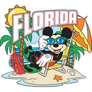 Jerry Leigh - Sunny Florida Mickey Postcard