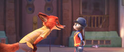 Nick Wild talking to Judy Hopps