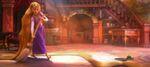 Rapunzel beginning her chores