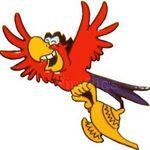 Walt Disney Co. - Aladdin's Iago Flying with the Genie's Lamp