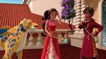 Elena worrying about her broken scepter
