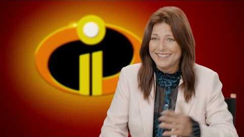 "Incredibles 2 ""Evelyn Deavor"" Behind The Scenes Catherine Keener Interview"