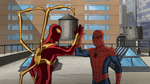 Iron Spider and Spider-Man 2