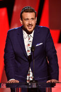 Jason Segel speaks at Independent Spirit Awards