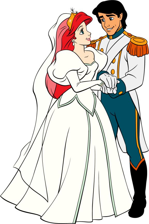Image - Wedding-Ariel-Eric-Bride-Groom.jpg | Disney Wiki | FANDOM ...