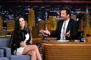 Demi Moore visits Jimmy Fallon