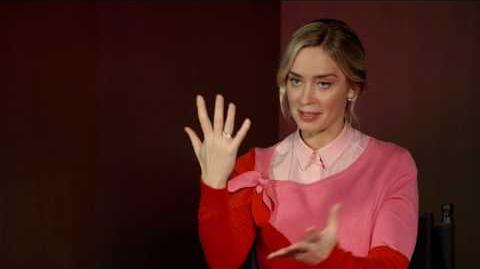 MARY POPPINS RETURNS Emily Blunt Behind The Scenes Interview