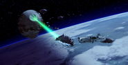 Death Star II in battle