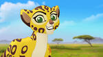 Fuli is excited to hunt with Kion's family