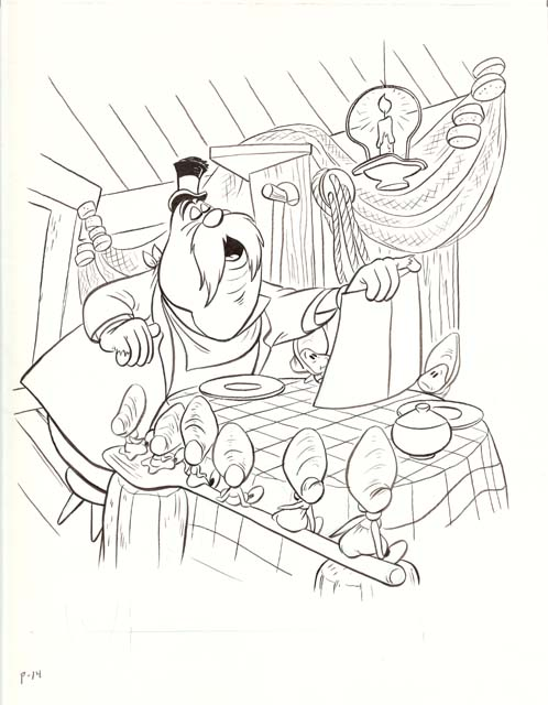 Golden Coloring Book Original Art Pg 14 640