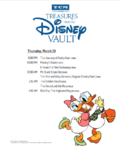 March 2018 Schedule Sheet