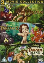Tarzan 1-3 Box Set UK DVD
