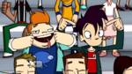 The Three Mascot-teers - Howard and Randy 01