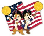 Chip and Dale 4th of July Pin