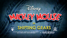 Mickey Mouse Shifting Gears Title card