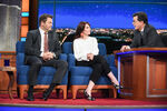 Nick Offerman & Megan Mullally visit Stephen Colbert