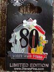 Pluto 80 years pin