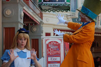 Alice & Mad Hatter are playing ragtime @ Disneyland