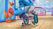 Stuffy on a wheelchair