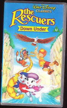 The Rescuers Down Under 1992 UK VHS