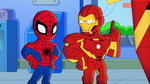 Spider-Man and Iron Man in Marvel Super Hero Adventures
