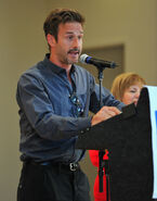 David Arquette speaking at WWE Creative Coalition