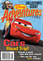 Disney Adventures Magazine cover June July 2006 Cars movie
