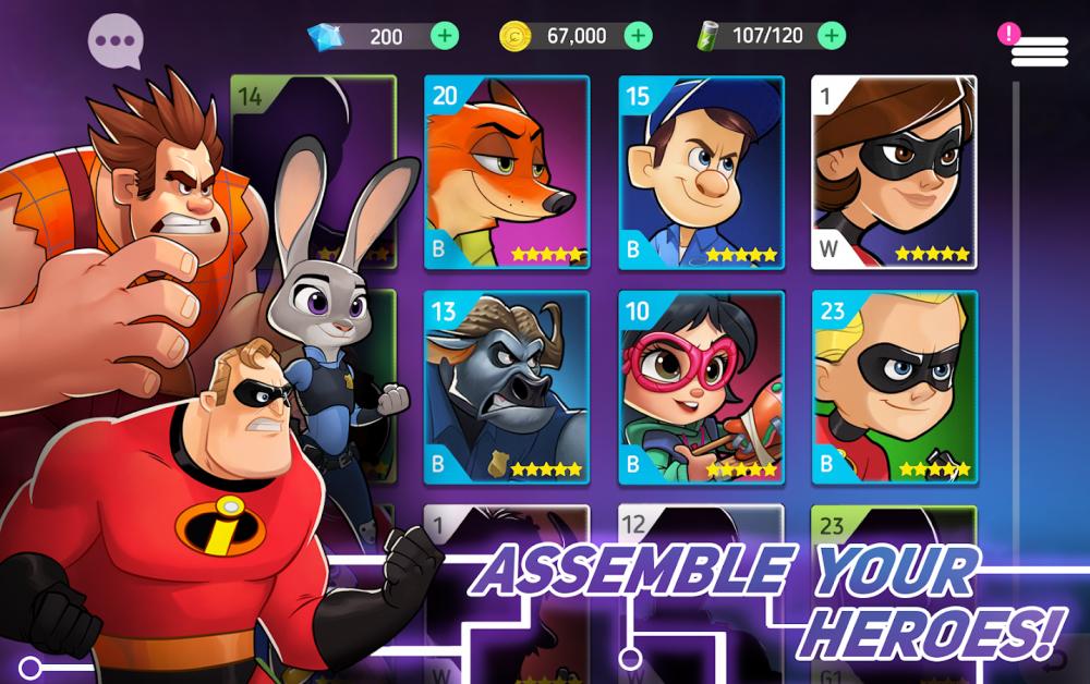 ผลการค้นหารูปภาพสำหรับ Disney Heroes Battle Mode