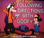 Goofy directions