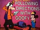 Get It Right: Following Directions with Goofy
