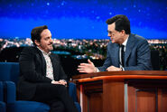 Ben Falcone visits Stephen Colbert