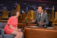 Lena Dunham visits Jimmy Fallon