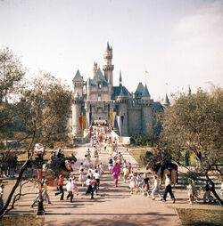 Sleeping Beauty Castle on Opening Day