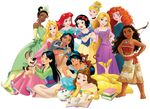 12 of the disney princesses