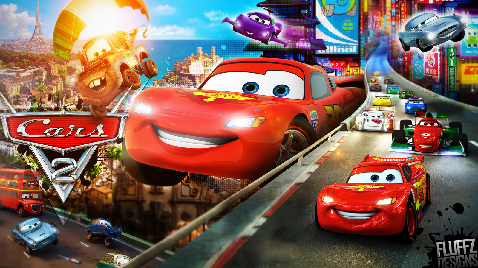 Image disney s cars 2 wallpaper by fluffydesignshd - Cars 3 wallpaper ...