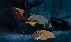 Fagin and the gang sleeping