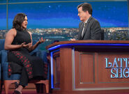 Mindy Kaling visits Stephen Colbert