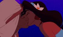 Aladdin-Jasmin kiss