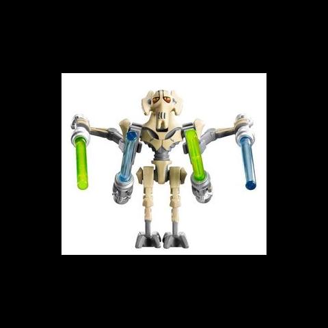 Figurka generała Grievousa w klockach LEGO.