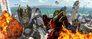 Red Ronin vs Mega Yama
