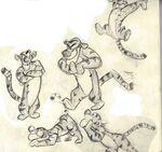 Tigger model sheet drawings