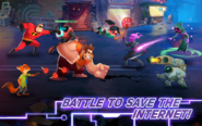 Disney Heroes: Battle Mode gameplay