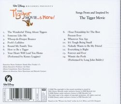 The tigger movie and more back cover