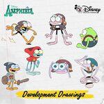 Amphibia development drawings - Sprig