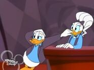 Donald shuts Daisy's bill up