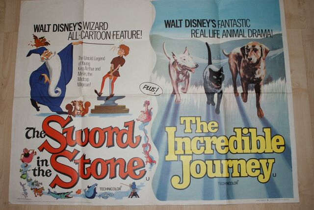 File:The sword in the stone the incredible journey uk quad.JPG