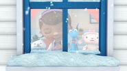 Doc, stuffy, lambie and chilly at the window