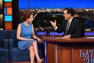 Ellie Kemper late show Stephen Colbert
