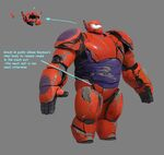 Broken Baymax Armor Concept Art