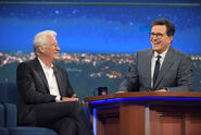 Richard Gere visits Stephen Colbert